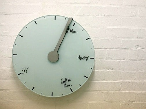 Whiteboard Clock Clears Your Schedule For You