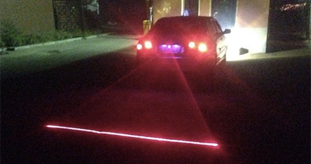 A Car Bumper Laser Helps Prevent Rear-End Collisions in Fog