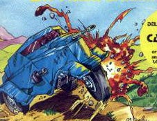 The Meanest Car Wins, In Post-WWIII Wasteland