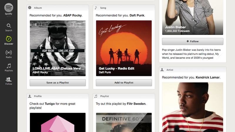 Spotify Discover Guides You to New Music Based on People You Follow