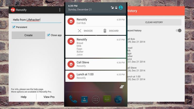 ReNotify Creates Undismissable Notes in Android Notifications
