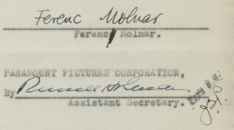 Molnár Ferenc aláírásától is megszabadul Hollywood