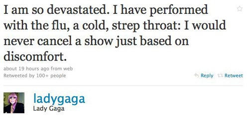 "Lady Gaga Is ""Devastated"" Over Canceling Concert"