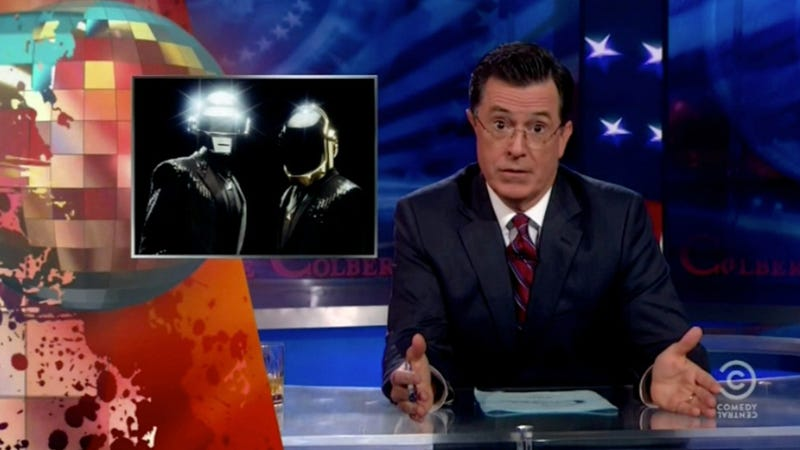 Watch Stephen Colbert Eviscerate the Head of MTV for Yanking Daft Punk