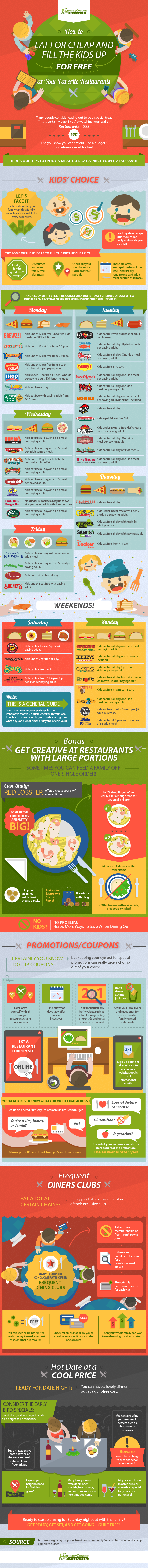 This Infographic Tells You When Kids Eat Free at Chain Restaurants