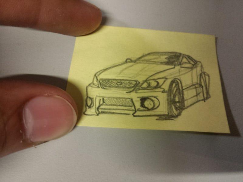 got bored, drew little car