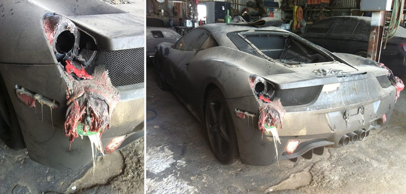 This $600,000 Porsche/Ferrari/M5 Totaling Fire Will Make You Cry