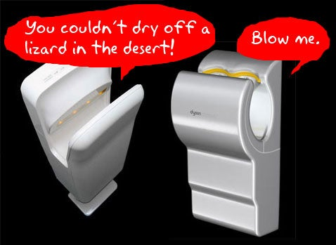 Are You Ready for a Dyson Airblade/Mitsubishi Jet Towel Battlemodo?