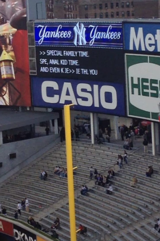 "It Was ""Anal Kid Time"" At Yankee Stadium Tonight"