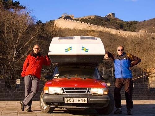 Crazy Swedes Drive Toppola-Equipped Saab 900 To Vietnam and Back