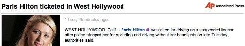 AP Ban On Paris Hilton Coverage Lasts Days