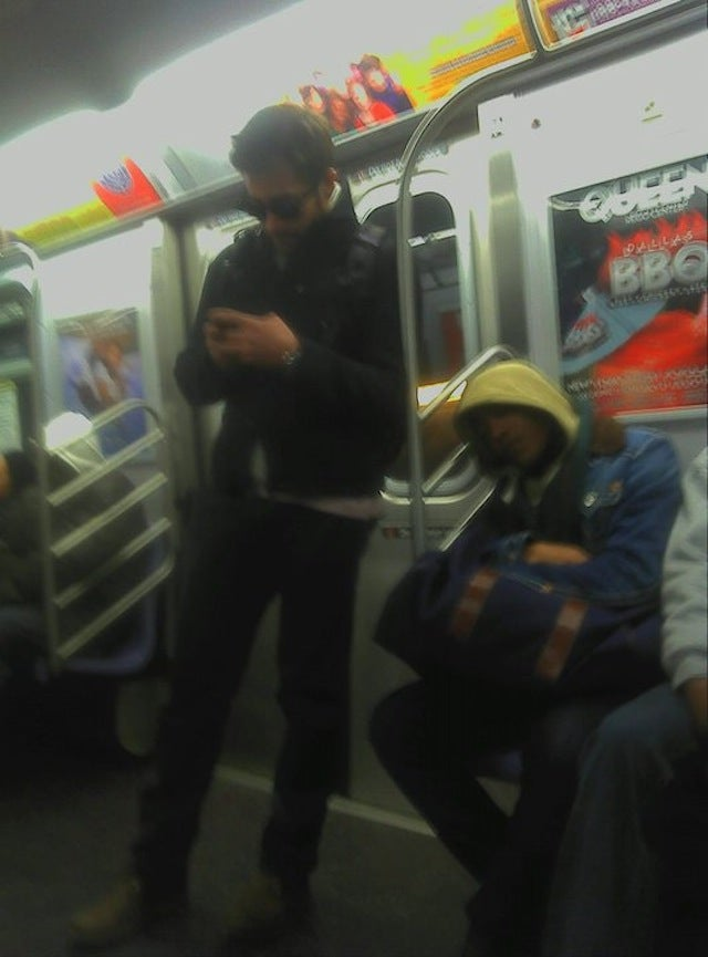 Jake Gyllenhaal Rides The Subway...Into Your Dreams