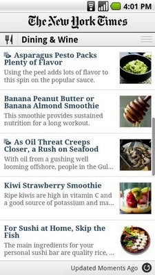 The NY Times Android App Has Arrived