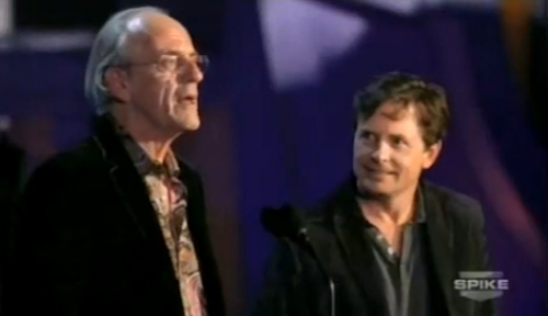 Back to the Future's Michael J. Fox and Christopher Lloyd Reunite at Scream Awards