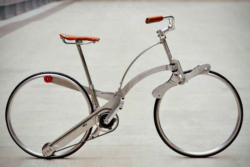 This Hubless Bicycle Folds to the Size of an Umbrella