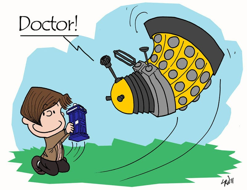 It's the Great Dalek, Charlie Brown
