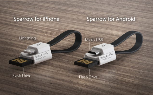 A Combo Flash Drive-Phone Cable Is The Most Useful Thing On Your Key Chain