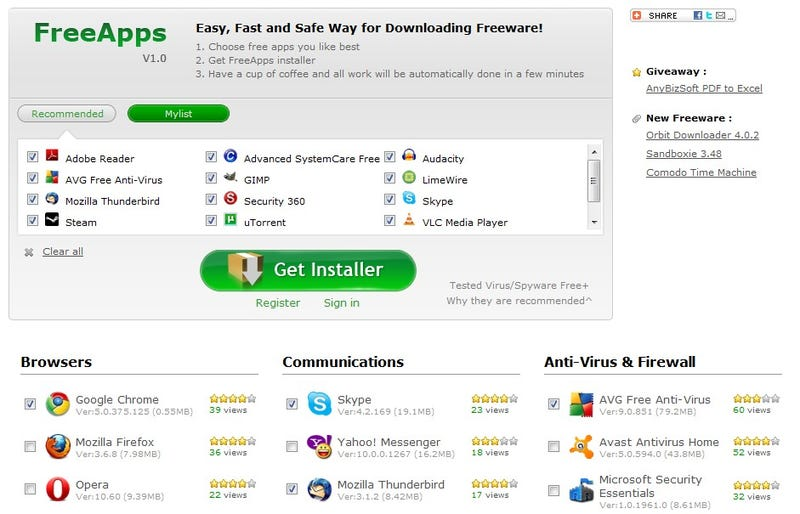 FreeApps Bundles Popular Free Applications for Easy Downloading