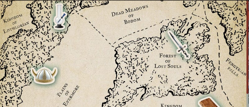 Build your own map of The Kingdom of Eliphaz from Knights of Badassdom