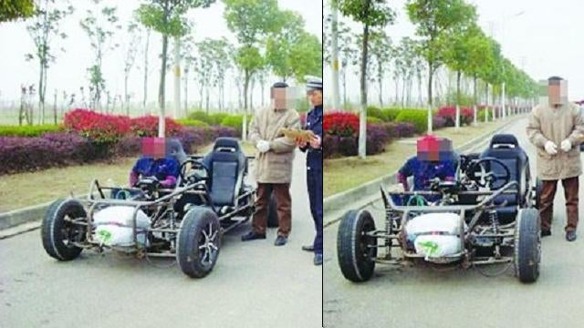 Chinese Electric Car Test Short-Circuited By Cops