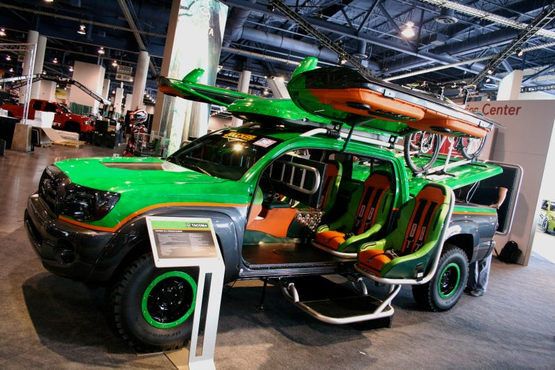 Toyota's Gullwing Door Monster XBOX Halo Warthog Pickup Truck Concept