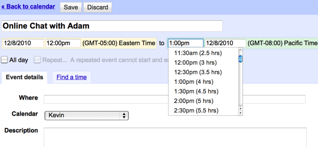 Google Calendar's Event Time Zones Avoid Cross-Country Time Confusion