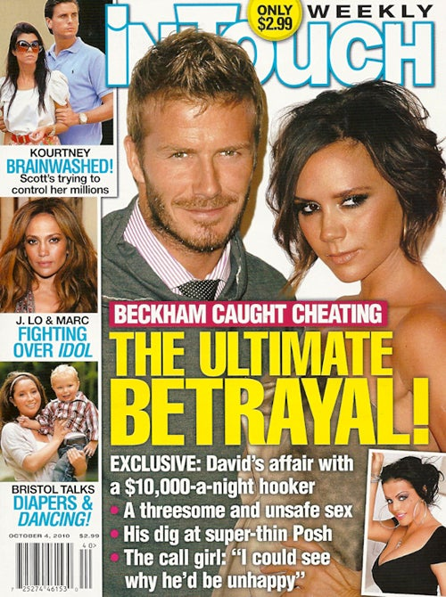 This Week In Tabloids: David Beckham's Call Girl Tells All