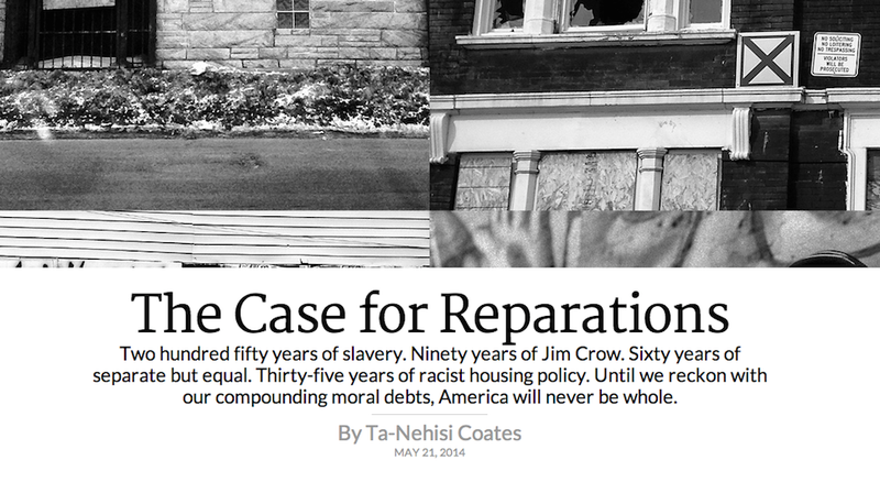 Ta-Nehisi Coates's Essay on Reparations Is A Heartbreaker