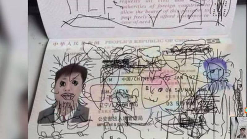 Father Detained in South Korea Over Son's Adorable Passport Drawings