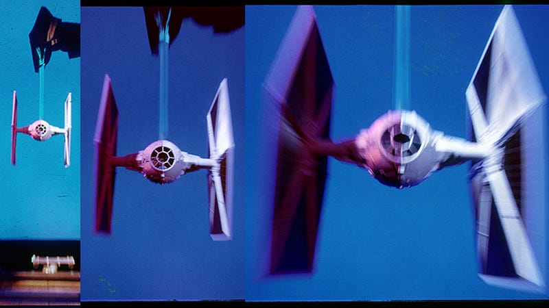The Original TIE Fighters Were Purple