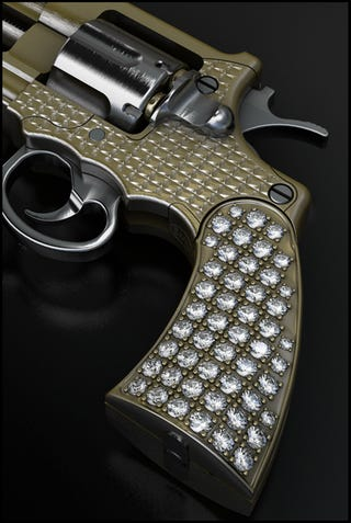 worlds smallest gun now in gold and diamonds kills just