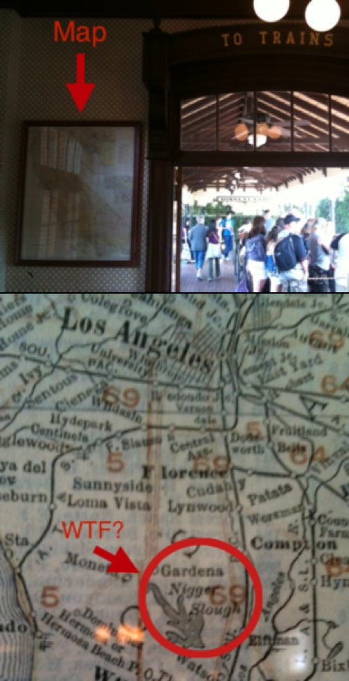 Racist Map Found at Disneyland