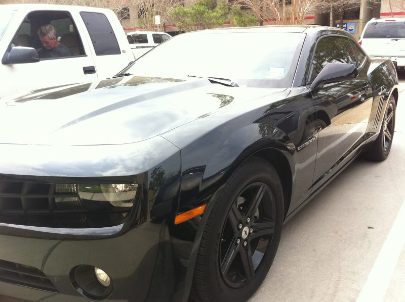 This Transformers Camaro is a cop car in disguise