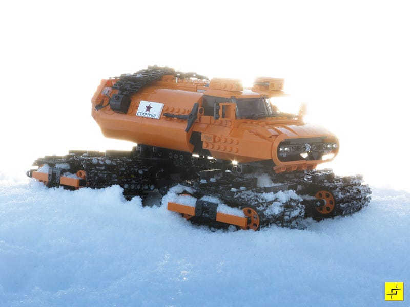 Snow Is No Match for this Russian Lego Crawler