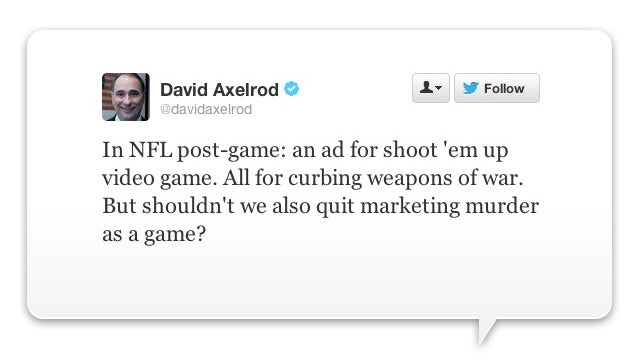 Obama Pal Slams Video Game Commercial: 'Shouldn't We Also Quit Marketing Murder As A Game?'