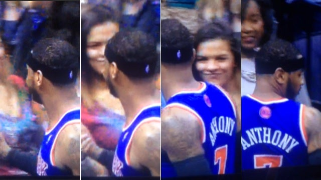 Frame-By-Frame Analysis Of Carmelo Anthony Checking Out Some Lady