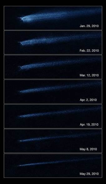 For the first time, Hubble finds the wreckage of an explosive asteroid collision