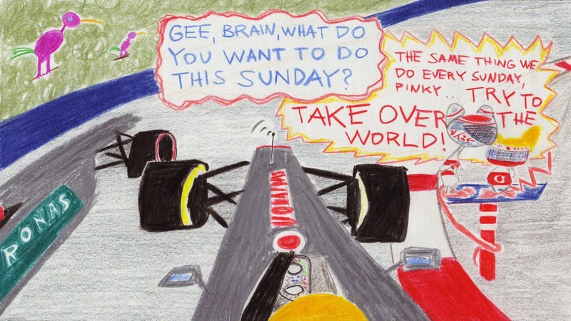 The 2011 Monaco Grand Prix in Crayola