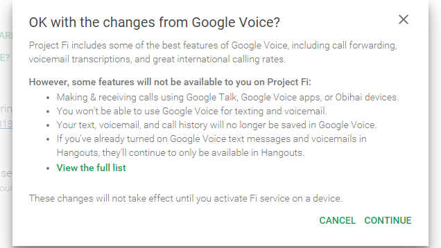 PSA: Using Google's Project Fi Gets Rid of Some Google Voice Features