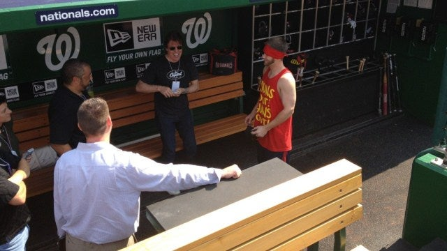 "Of Course Bryce Harper Wore A ""Sun's Out, Guns Out"" Tank Top When He Met George Thorogood"