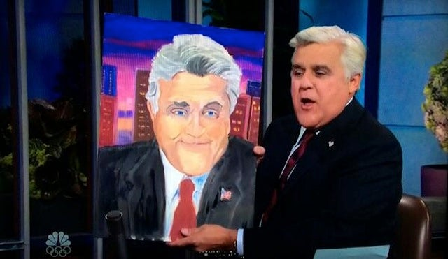George W. Bush Unveils New Painting, Discusses Putin Dog Diss on Leno