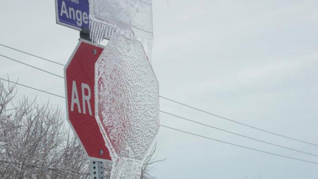This Ice Sign Is the Ghost of Winter Traffic Enforcement