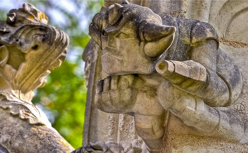 A Menagerie of Church Gargoyles Includes Aliens and Astronauts