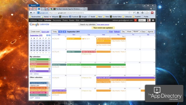 The best calendar app for windows for Computer planner software