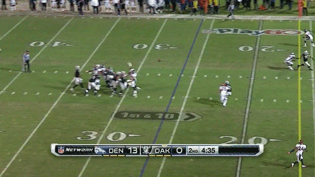 Denarius Moore Has Some Serious Directional Issues: Broncos-Raiders, In One GIF