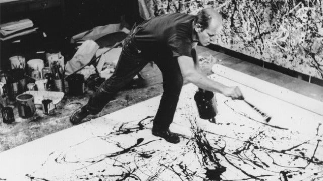 The abstract art of Jackson Pollock is a case study in complex physics