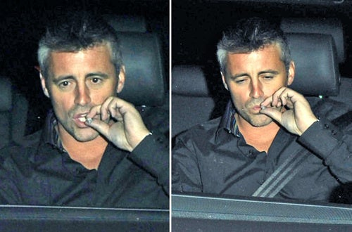 Matt LeBlanc Smokes a Suspicious-Looking Cigarette