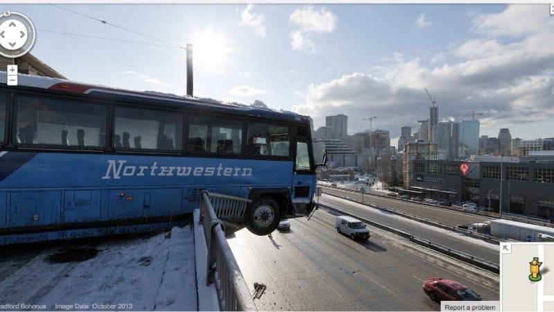 Insane Seattle Bus Crash Captured On Google Street View