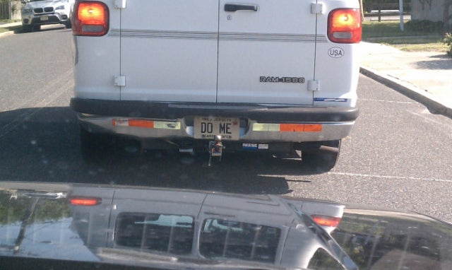 Fun With License Plates: Suggestive White-Van Edition