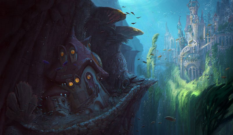 Concept Art Writing Prompt: A Cottage Sits Outside the Underwater City